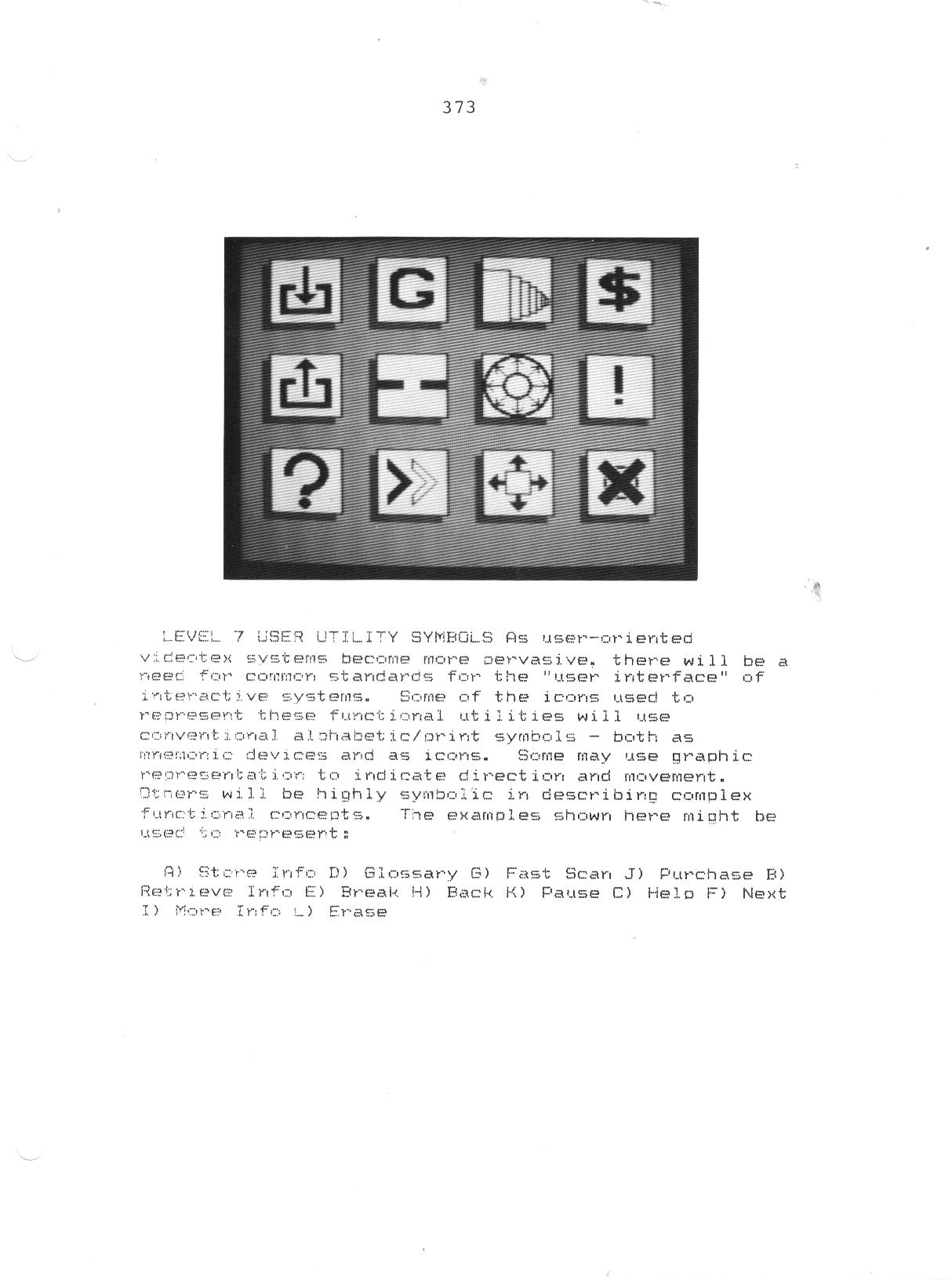 Graphics:  Early Digital Interaction Symbols