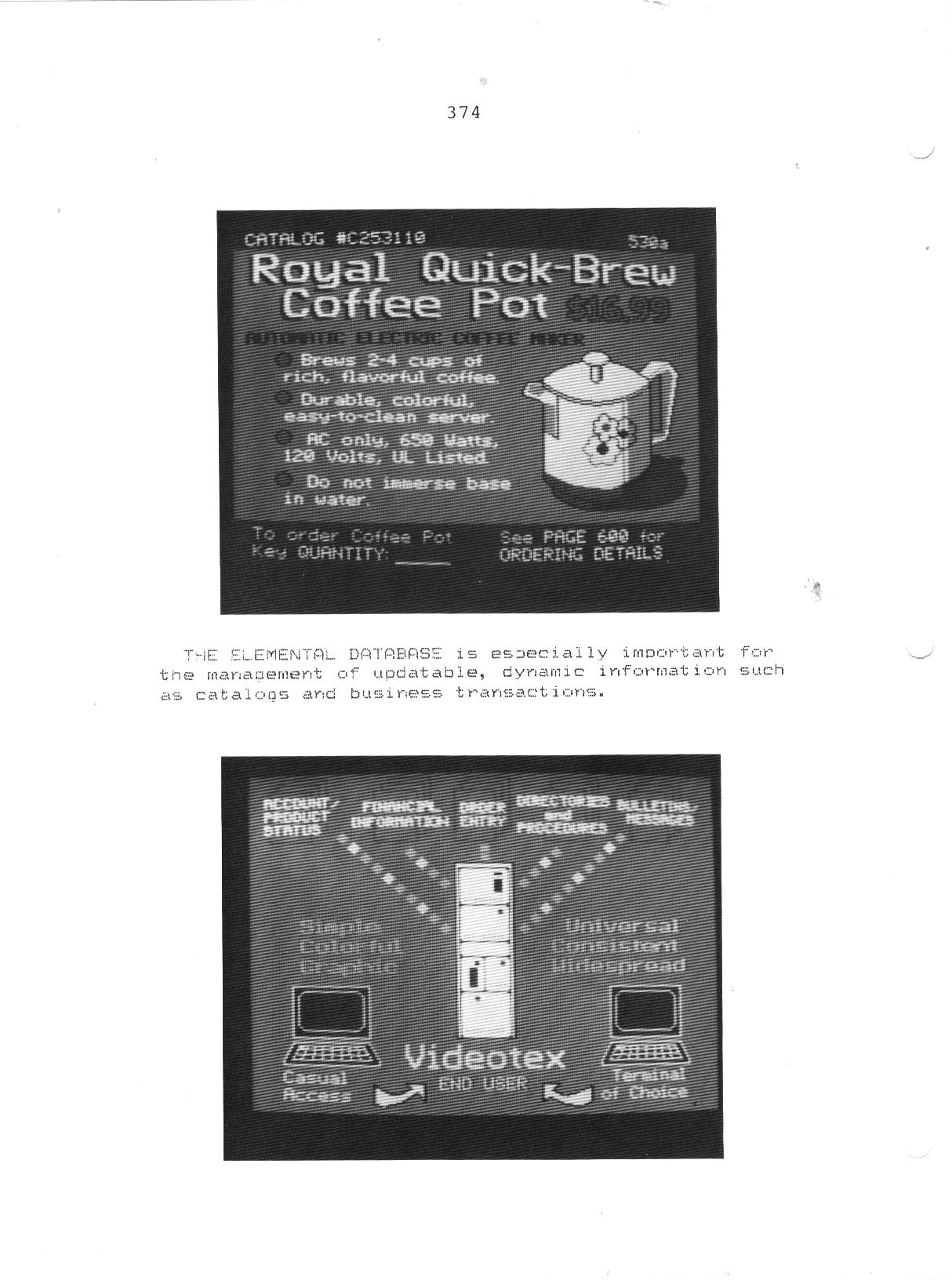 Graphics:  Early Videotex Screens
